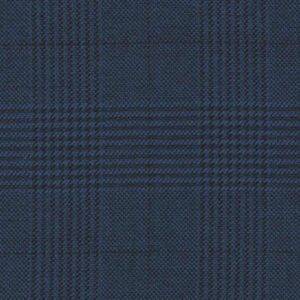 Holland and Sherry Swan Hill 2018 bright blue glen check 1 1/2 x 1 3/4 inch