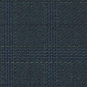 Holland and Sherry Swan Hill 2018 navy/green glen check 1 2/8 x 1 6/8 inch