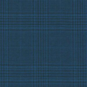 Holland and Sherry Swan Hill 2018 bright blue mock glen check 1 2/8 x 1 5/8 inch